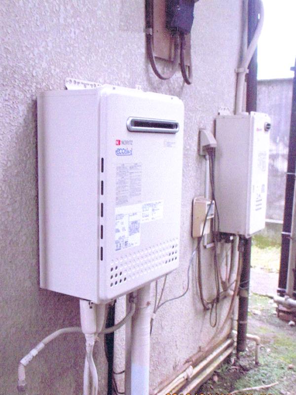 ガス給湯器のリフォーム2