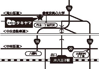 有限会社タキヤマ周辺地図